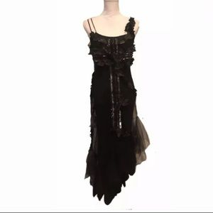 Dresses & Skirts - XS Vtg Goth 80s 90s dark Gaea slip dress
